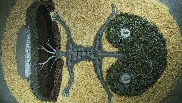Land art-Dust installation